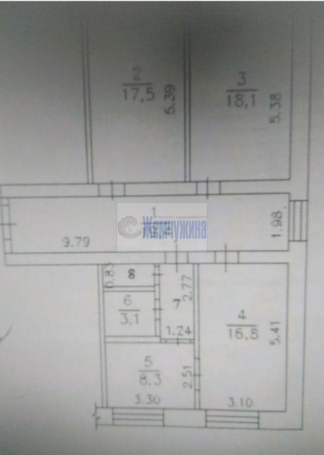 Продам 3-комн. квартиру по адресу Россия, Кемеровская область, Кемерово, ул. Тухачевского,27 фото 9 по выгодной цене