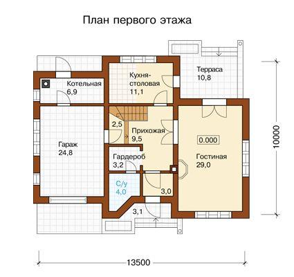 L-213-1P Проект дома из пеноблоков