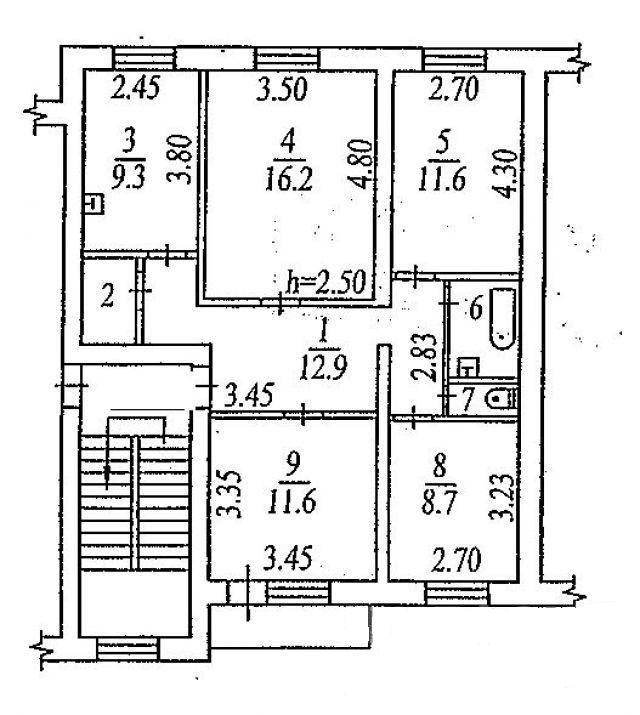 красснообск поселок, 49, 4-к квартира