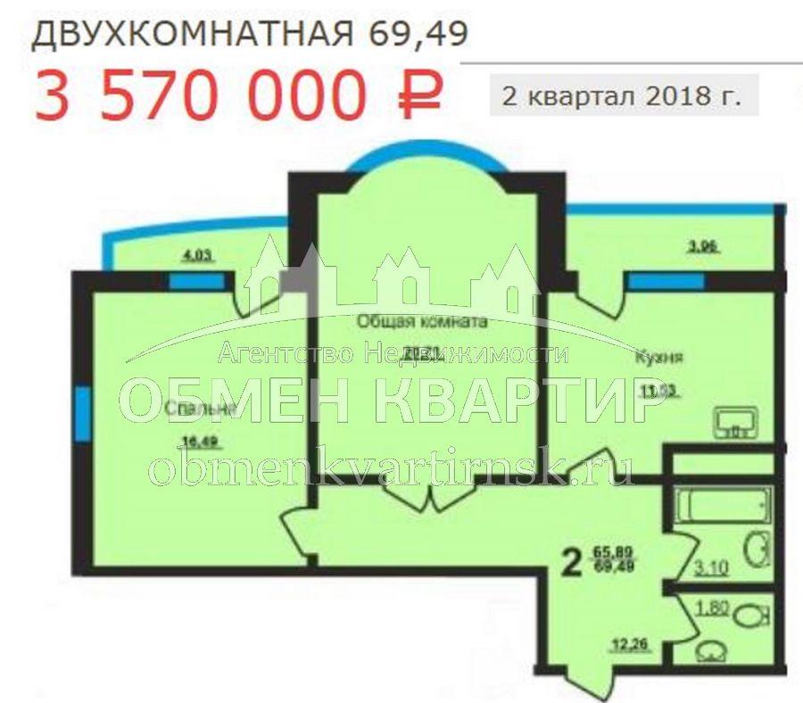 Ельцовская, 6 стр, 2-к квартира