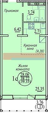 Высоцкого, 143/8, 1-к квартира