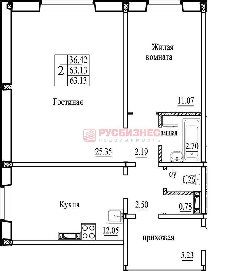 Высоцкого, 143/5, 2-комнатная квартира