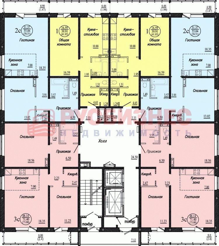 Бронная, 4, 2-комнатная квартира