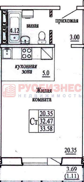Высоцкого, 140/2, 1-комнатная квартира