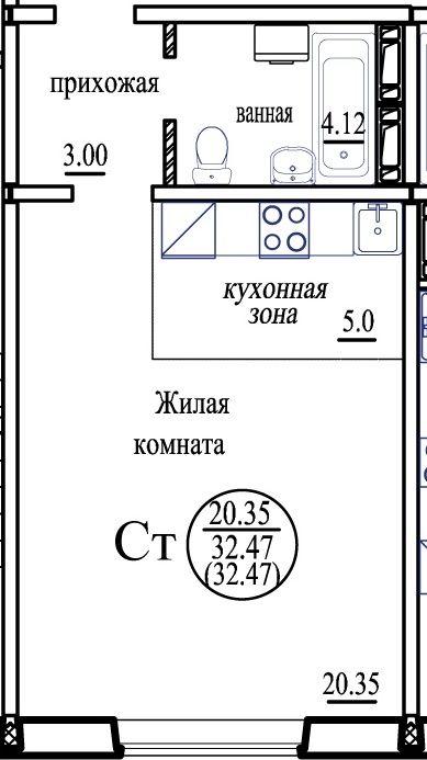 Бронная, 41, 1-к квартира
