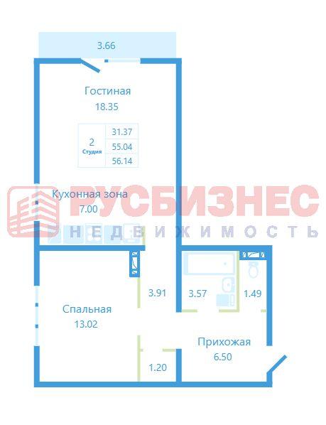 Бронная, 35, 2-комнатная квартира