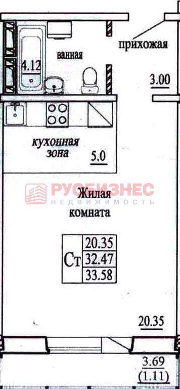 Высоцкого, 140/4, 1-к квартира