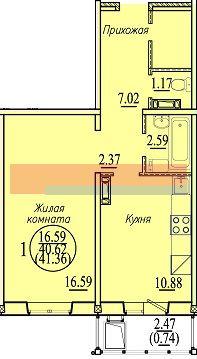 Бронная, 27, 1-к квартира