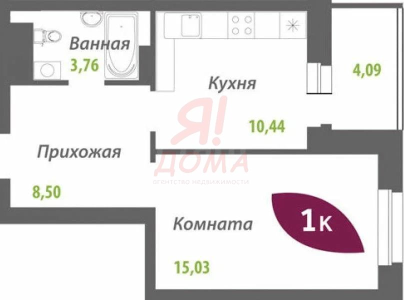Сержанта Коротаева, 9, 1-к квартира