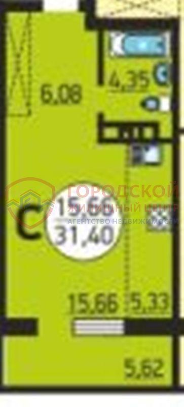 Продам студию по адресу Россия, Новосибирская область, Новосибирск, ул. 25 лет Октября,14 стр фото 0 по выгодной цене