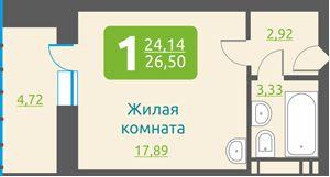 Обская 2-я, 154, 1-к квартира