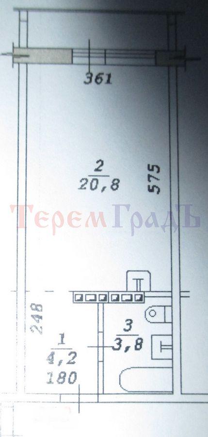 Продам студию по адресу Россия, Новосибирская область, Новосибирск, ул. Зорге,94 фото 15 по выгодной цене