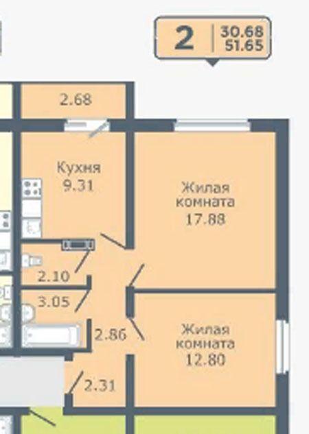Фадеева, 8 стр., 2-к квартира