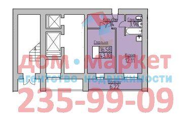 Продам 2-комн. квартиру по адресу Россия, Новосибирская область, Новосибирск, ул. Надежды,4 фото 0 по выгодной цене