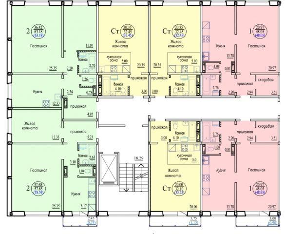 Высоцкого, 150, 1-к квартира