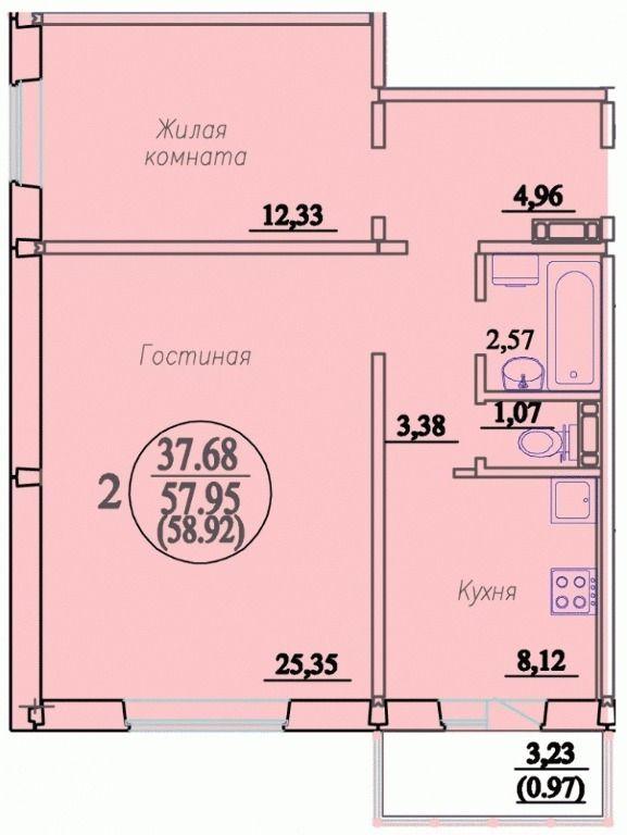 Виталия Потылицына, 7, 2-к квартира
