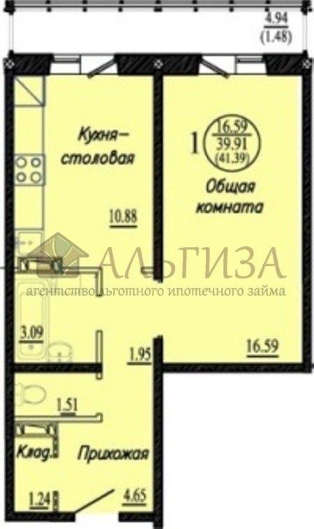 Бронная, 40, 1-к квартира