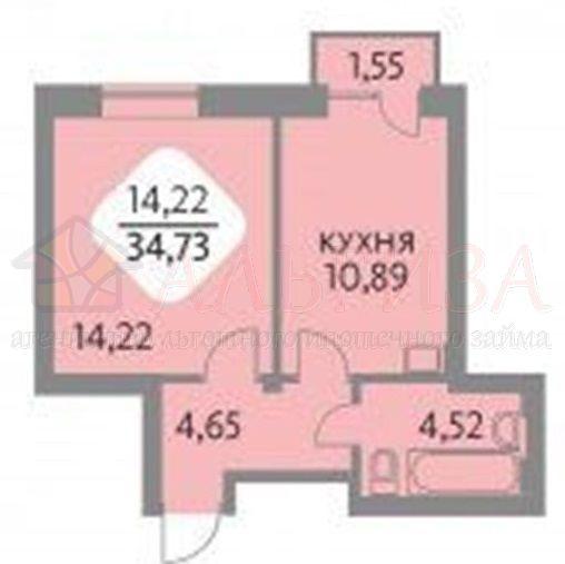Большая, 600 дом 4/1 стр, 1-к квартира