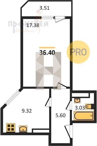 Ивлева, 214стр., 1-к квартира