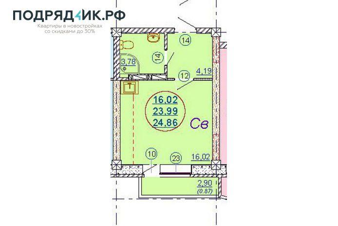 Продам студию по адресу Россия, Новосибирская область, Новосибирск, мкр. Закаменский,7 стр фото 0 по выгодной цене