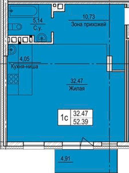 Продам 1-комн. квартиру по адресу Россия, Новосибирская область, Новосибирск, ул. Узловая,8 фото 1 по выгодной цене