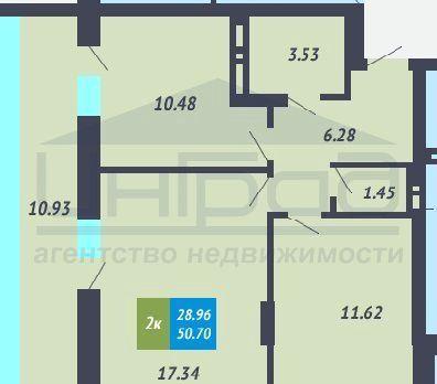 Обская, 46к1, 2-к квартира