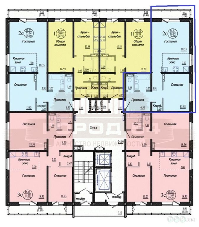 Бронная, 7, 2-комнатная квартира